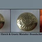Verschiedene Ehrich & Graetz Matador-Brandscheiben, 20-linig