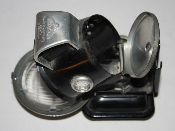 Scharlach-Fahrradlampen ungebrannt