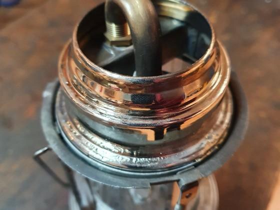 Der Innenhut einer Petromax 150 wurde komplett umgearbeitet