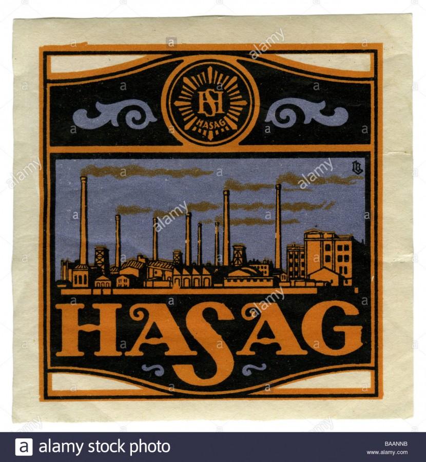 Eine Briefmarke mit schönem Hugo Schneider-Design