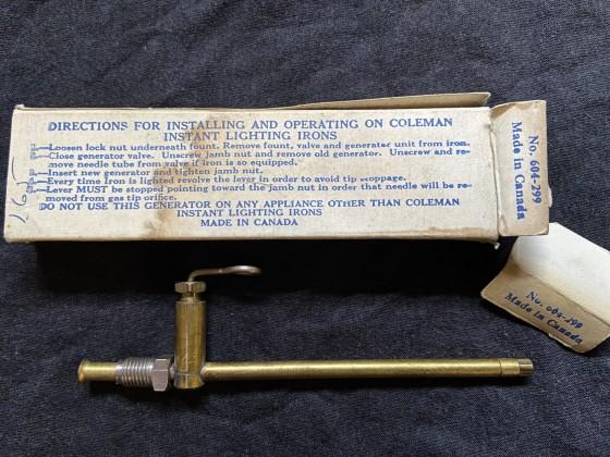Original Coleman Iron 4 Generator #604-299