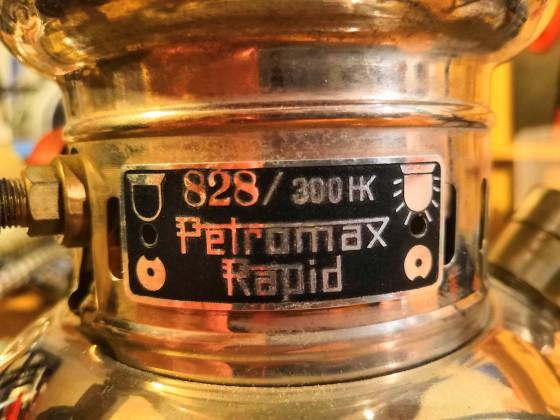 Typenschild Petromax 828 - 300
